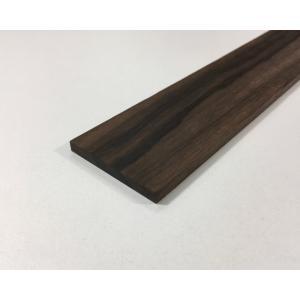 【DIY・クラフト用木材】縞黒檀(しまこくたん) 平板 端材 幅約47mmx長さ約950mmx厚み約7mm 1本【サイズ・色等の商品選択は不可】|ganbariya-shop