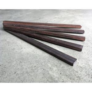 【DIY・クラフト用木材】縞黒檀(しまこくたん) 平板 端材 幅約20mmx長さ約300mmx厚み約7mm 20本入 1セット【サイズ・色等の商品選択はできません】|ganbariya-shop