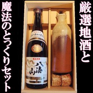 日本酒 とっくりセット 八海山 本醸造720mlと魔法の徳利セット【K】【W】|gancho