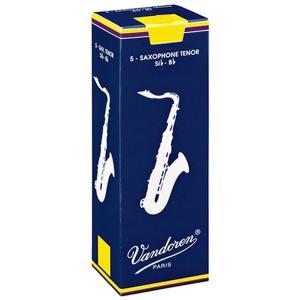 VANDOREN(バンドレン)リード:テナーサックス用 トラディショナル 青箱 2 1/2 (1箱=5枚セット):バンドーレン|gandgmusichotline