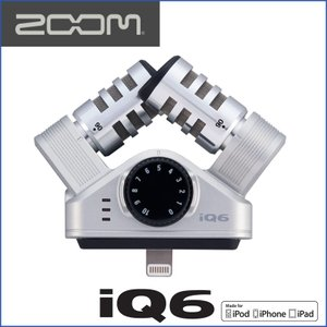 ZOOM/ズーム iQ6 XY Stereo Mic for iOS Devices iOS用XYステレオマイクロフォン|gandgmusichotline