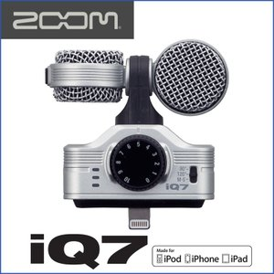 ZOOM/ズーム iQ7 MS Stereo Mic for iOS Devices iOS用MSステレオマイクロフォン|gandgmusichotline