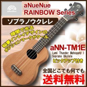 aNueNue aNN-TM1E Lumi Thunder Mahogany I Soprano Ukulele / アヌエヌエ エレクトリック ソプラノ ウクレレ|gandgmusichotline