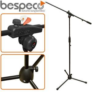 【送料無料】BESPECO(ベスペコ) ブームマイクスタンド:BLACK(ブラック)/MS30NE|gandgmusichotline