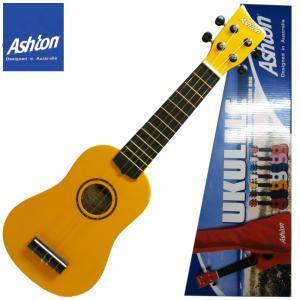 【送料無料】Ashton(アシュトン) カラフルなウクレレ(ケース付)「UKE100YL:イエロー(Yellow)」Color Ukulele gandgmusichotline