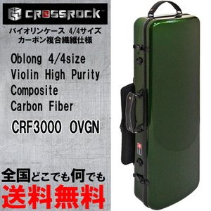 バイオリンケース CROSSROCK CRF3000OVGN GREEN 4/4 バイオリン用 スクエアタイプ 譜面ケース付 gandgmusichotline
