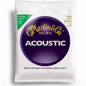 MARTIN/マーチン マーチン弦エクストラ・ライト M180×3セット 12弦ギター用/M-180|gandgmusichotline