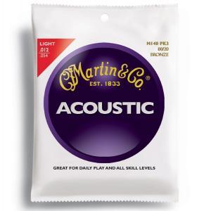 MARTIN(マーチン弦) 「M140PK3×1パック」(3セット入り)ライト・ゲージ  Martin 80/20 Bronze Light Acoustic Guitar/M-140Pack3 gandgmusichotline