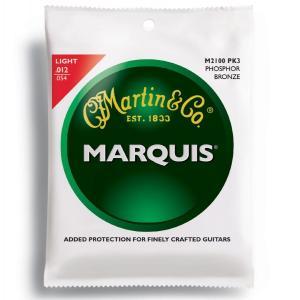 MARTIN(マーチン弦) 「M2100PK3×1パック」(3セット入り)ライト・ゲージ Marquis 92/8 Phosphor Bronze Light Acoustic Guitar/M-2100Pack3