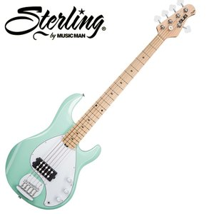 Sterling by MUSICMAN/ミュージックマン Ray5 Mint Green(ミント・グリーン) メイプル指板 圧倒的コストパフォーマンスの5弦ベース|gandgmusichotline