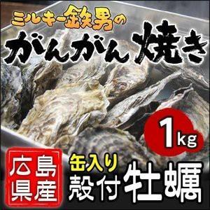 /送料無料!/ミルキー鉄男のがんがん焼き 広島県産殻付きかき 缶入り10個|gangan