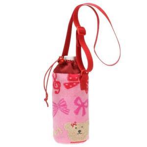 保冷ペットボトルホルダ ショルダー レインボーベア スキップ ペットボトルケース 飛行機・リボン 今治タオルの日本製|ganso