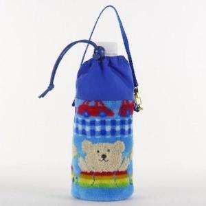 保冷ペットボトルホルダ レインボーベア ミニカー ペットボトルケース 今治タオルの日本製|ganso