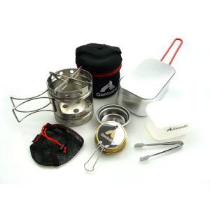 Gaobabuキャリボ風防と固形燃料用のツールにトランギアのメスティンを合わせたセットです。  野外...