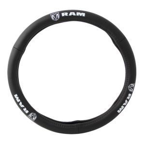 PILOT Automotive(パイロット) レザー ステアリング カバー,RAM (ラム) ロゴ SW131|garage-daiban
