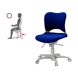 オフィス チェア 腰痛対策 事務椅子 ウレタン巻キャスターパソコンチェア 青 ガラージ チェアOC Garage家具 OC-Z06SLU|garage-murabi