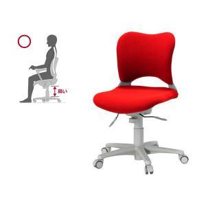 オフィス チェア 腰痛対策 事務椅子 ウレタン巻キャスターパソコンチェア 赤 ガラージ チェアOC Garage家具 OC-Z06SLU|garage-murabi