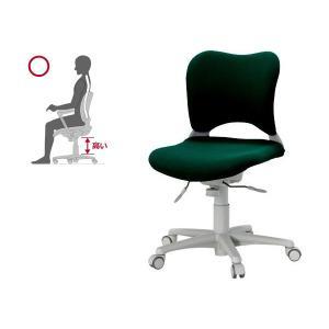 オフィス チェア 腰痛対策 事務椅子 ウレタン巻キャスターパソコンチェア 緑 ガラージ チェアOC Garage家具 OC-Z06SLU|garage-murabi