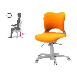 次回6/29頃入荷 オフィス チェア 腰痛対策 事務椅子 ウレタン巻キャスターパソコンチェア 橙 ガラージ チェアOC Garage家具 OC-Z06SLU|garage-murabi