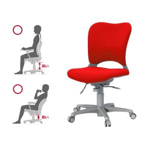 Garage腰痛防止の事務椅子 ハイバック パソコンチェア 赤 ガラージ チェアオフィスチェア ウレタン巻キャスターOC-Z03SLU|garage-murabi