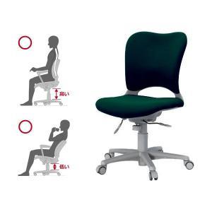 Garage腰痛防止の事務椅子 ハイバック パソコンチェア 緑 ガラージ チェア オフィスチェア ウレタン巻キャスターOC-Z03SLU|garage-murabi