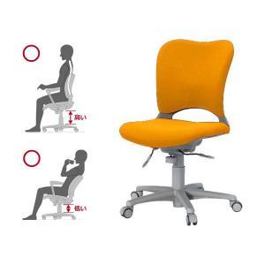 Garage腰痛防止の事務椅子 ハイバック パソコンチェア 橙 ガラージ チェア オフィスチェア ウレタン巻キャスターOC-Z03SLU|garage-murabi