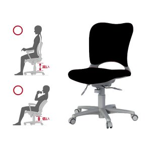 Garage腰痛防止の事務椅子 ハイバック パソコンチェア 黒 ガラージ チェアオフィスチェア ウレタン巻キャスターOC-Z03SLU|garage-murabi