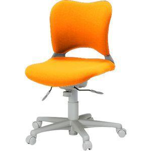 次回6/29頃入荷 Garageオフィスチェア・パソコンチェア腰痛 防止 事務椅子 カーペット床仕様 橙 送料無料|garage-murabi