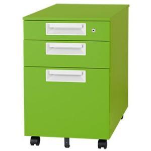 取り寄せ品 チールワゴン マスカットグリーン Garage家具 カラー マルシェワゴン SH-046SC-3 送料無料 garage-murabi