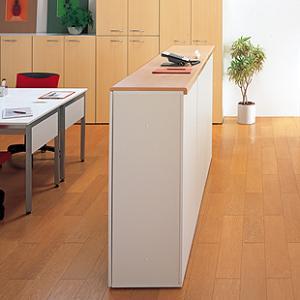 受付カウンター  KK-8011(オープンタイプ)と天板セット  H1100 白 収納型カウンター 【送料無料】|garage-murabi