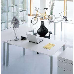 デスク W1600×D800 Garage fantoni ME 高級 エグゼクティブ オフィス デスク italian 白 シルバー脚デスク|garage-murabi