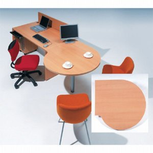 Garage fantoni GF【木目】連結テーブル 変形円型 ミーティングテーブル 家具 オフィス デスク ガラージ GF-100ST 415218|garage-murabi