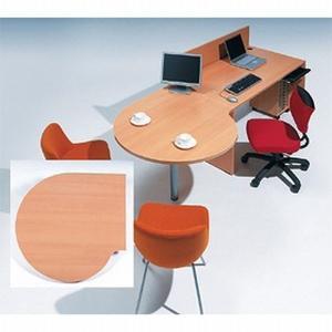 Garage fantoni GF【木目】連結テーブル 変形円型 ミーティングテーブル 家具 オフィス デスク ガラージ GF-100ST-L 415397|garage-murabi