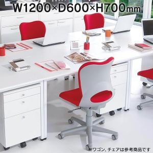 Garage デスクC2  白 パソコンデスク W1200×D600 C2-126H 415496 パソコンデスク オフィスデスク テレワーク ホームオフィス シンプルデスク ワークテーブル|garage-murabi