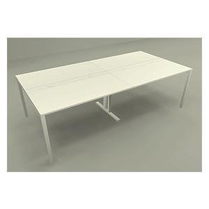 配線機能 ミーティングテーブル W2400×D1200mm Garage 2色 セパレート1200mm天板×2 garage-murabi
