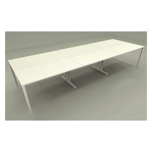 マルチテーブルのセットテーブル W3600×D1200mm Garage OAミーティングテーブル 天板C×3 garage-murabi