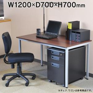 ■完売 Garage CL デスク CL-127H W1200×D700 濃木目 415967 平机 ワークデスク おしゃれ パソコンデスク 事務デスク 学習デスク オフィス garage-murabi