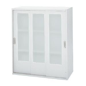 プラス リンクス LX-5 ガラス3枚引違い保管庫 3段 上置き L5−105SG W4 W900・D450・H1050 安心設置までサービス|garage-murabi