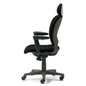 PLUS 腰痛対策の事務椅子 パソコンチェア アジャスト肘付 エクストラハイバック 黒 納期2W KD-Z20SEL 697001|garage-murabi
