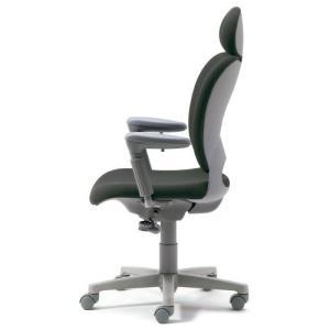 PLUS 腰痛対策の事務椅子 パソコンチェア アジャスト肘付 エクストラハイバック ミディアムグレー 納期2W KD-Z20 SEL 697020|garage-murabi