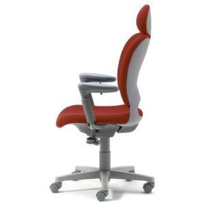 PLUS 腰痛対策の事務椅子 パソコンチェア アジャスト肘付 エクストラハイバック レッド 納期2W KD-Z20 SEL 697021|garage-murabi