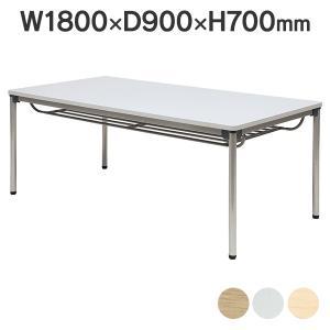 ミーティングテーブル 棚付 激安低価格 ASS-1890 角型/棚付 W1800×D900mm2台〜@¥1,500引き 送料無料|garage-murabi