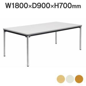 【事業所様お届け 限定商品】 ミーティングテーブル 高級会議用テーブル ステンレスパイプ脚 棚なし ATX-1890SE 角型 W1800×D900 2台〜@¥1,500引き|garage-murabi
