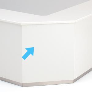 受付ハイカウンターコーナー PLUS DK  ホワイト 送料無料 設置まで|garage-murabi