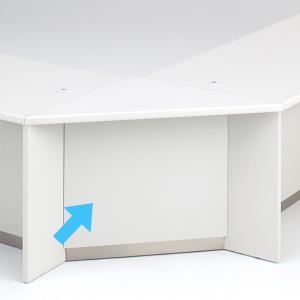 受付ローカウンターコーナー PLUS DK  ホワイト 送料無料 設置まで|garage-murabi