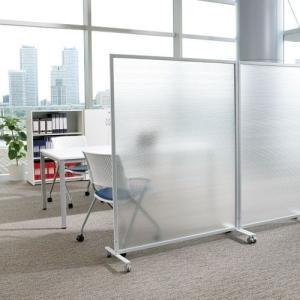 衝立式パネル キャスター付 W1200×H1500mm 半透明 パーティション|garage-murabi