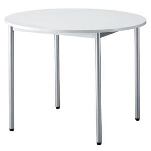ホワイト 丸テーブル 900φ ミーティングテーブルにも BF-9090N|garage-murabi