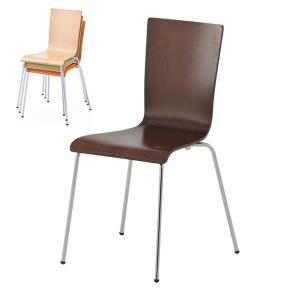 おしゃれな椅子 プライウッドチェア ダーク RFC-FPDB ダイニングチェア 木製 ウッドチェア 会議用チェア 休憩室 カフェ|garage-murabi