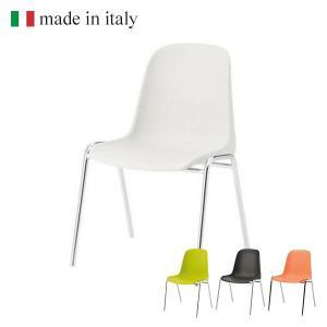 会議用 チェア スタッキングチェア 食堂イス (イタリア製)  気軽なミーティングチェア|garage-murabi