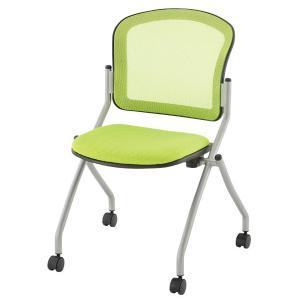 ミーティングチェア 会議椅子 キャスター付き TOKIO グリーン|garage-murabi